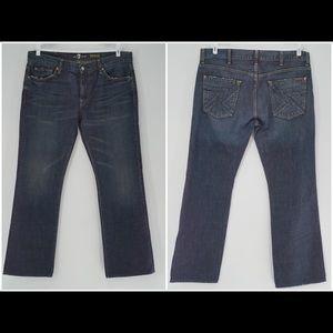 7 For All Mankind Bootcut Distress Flynt Pocket